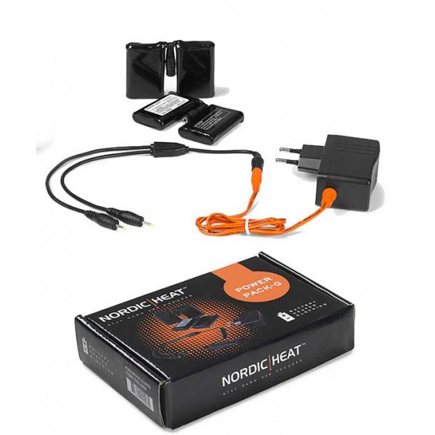 Nordic Heat Powerpack – 220V lader + batteri