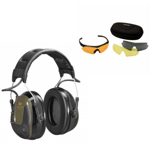 Peltor Protac Hunter høreværn inklusiv Skydebriller