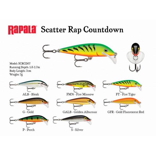 Scatter Rap Countdown 7cm - 7gr