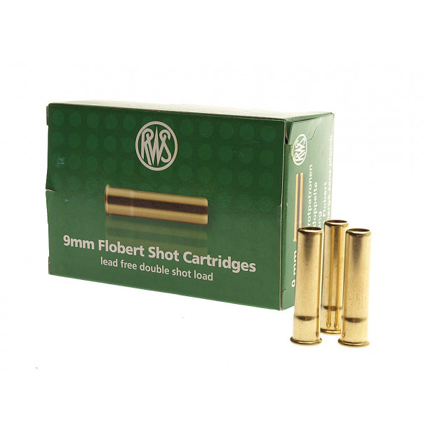 RWS 9mm Flobert Shot Cartridges - 50 stk.